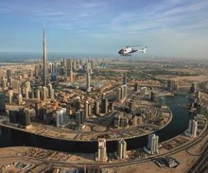 Hubschrauberflug über Dubai