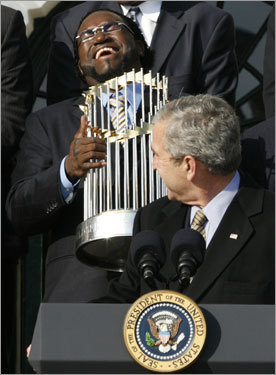 Papi with Trophy