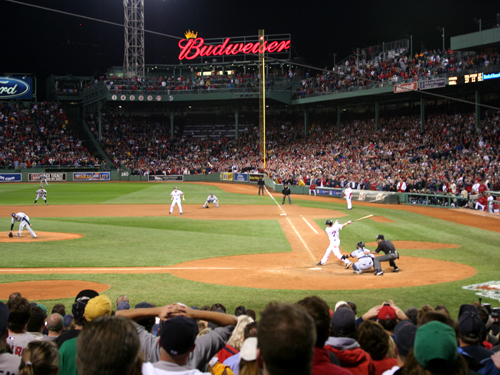 Line Drive to Right Field...(credit: Boston Globe)