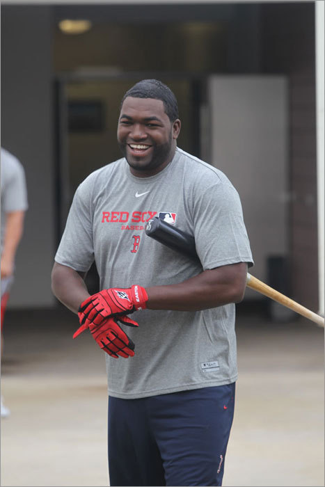 David Ortiz was among the first position players to report to spring training on Monday. Several arrived last week to participate in informal workouts while pitchers and catchers were reporting, but Monday was the first day position players were required to report. Click here to see a gallery of early arrivals and pitchers and catchers reporting.