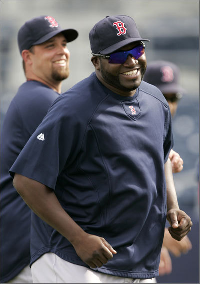 David Ortiz was all smiles before the first game of the day on Tuesday. The Sox ended up losing both spring training games on Tuesday, 3-0 to the Astros and 7-0 to the Rays.