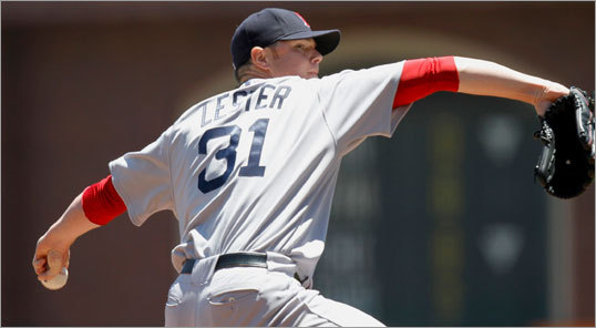 Meanwhile, Jon Lester held up his end of the pitching duel, holding the Giants to one run in a complete game effort.