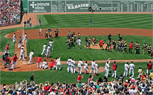 Another view of the first pitch, which was -- unsurprisingly -- a little chaotic.