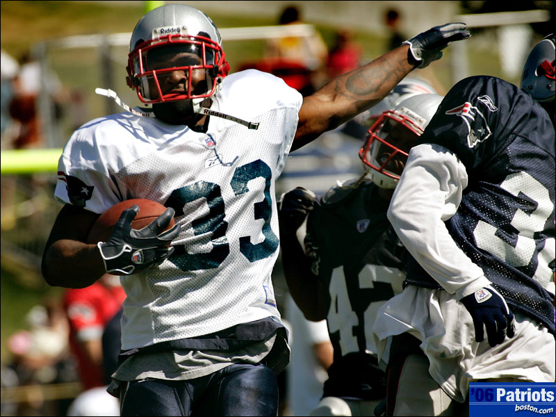 Kevin Faulk directs traffic in Foxboro. He has been improving for 11 seasons (and 3 championships). All with the New England Patriots.