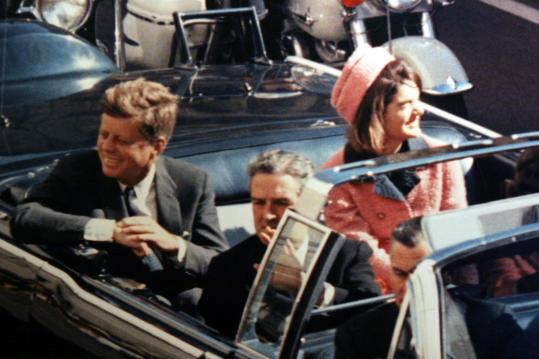 President Kennedy (left), Texas Governor John Connally, and Jacqueline Kennedy, minutes before the president was shot.