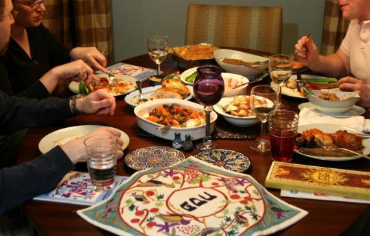 Image result for pesach seder festive meal