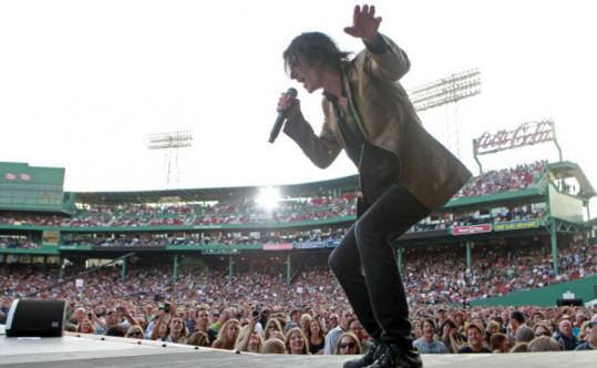 Peter Wolf of the J. Geils Band belted out a tune last night.