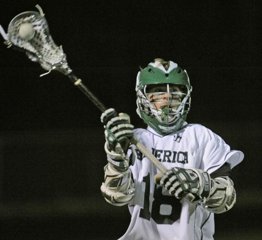Billerica's Cam Slatton passes the ball during last Friday's 16-3 win over Chelmsford.