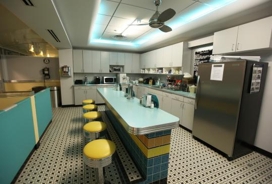 Employee Perks Commonwealth Financial has themed kitchens