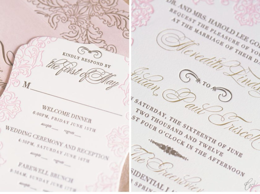 Luxury Wedding Invitations By Ceci New York Our Muse Romantic Southern Be