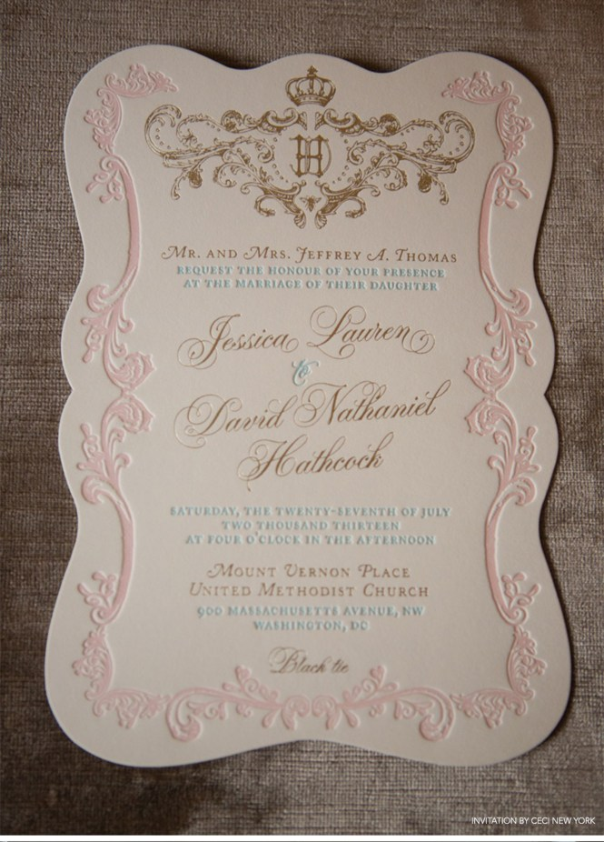 Wedding Invitations Peach Mint Green Romantic
