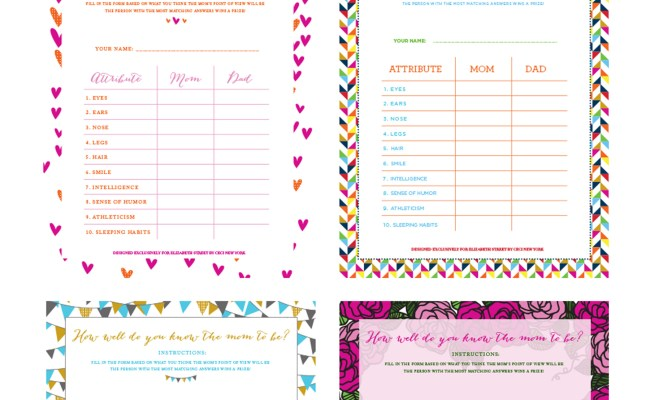 Baby Shower Game Templates Search Results Calendar 2015