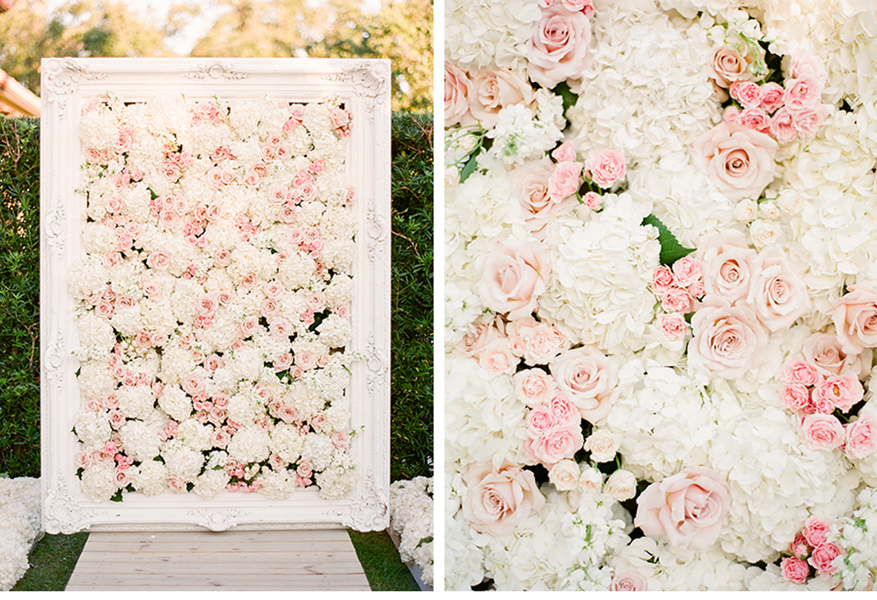 floral wall photobooth