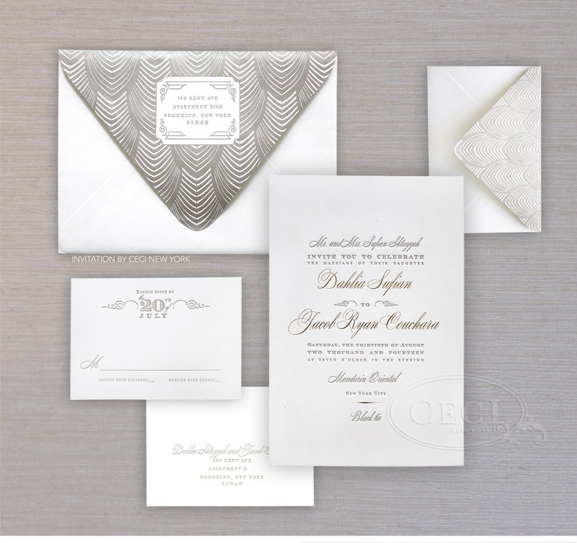 Luxury Wedding Invitations By Ceci New York Our Muse Modern In