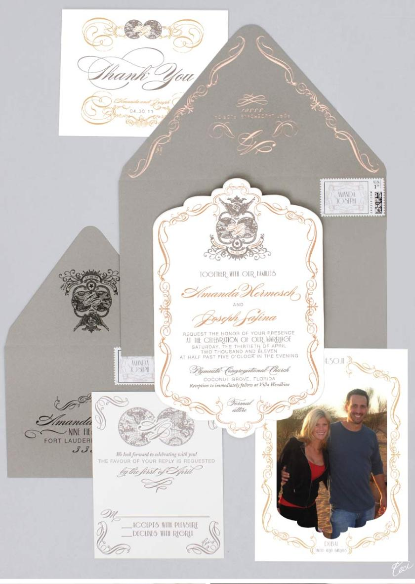 Luxury Wedding Invitations By Ceci New York Our Muse Elegant Old World