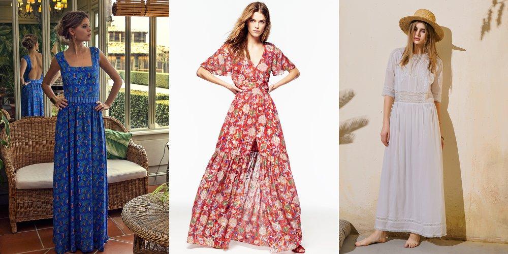 Robes Longues Printemps T 40 Modles Shopper