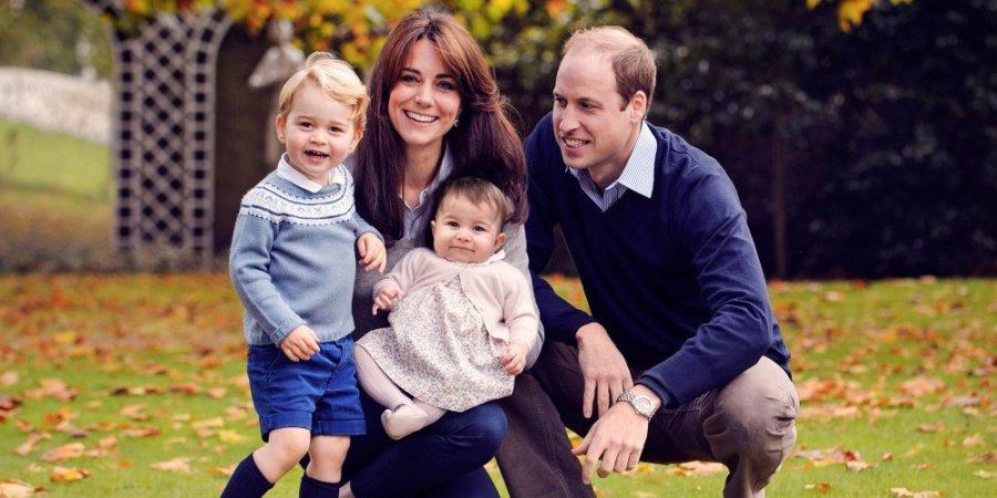 photo de famille Prince William et Kate Middleton