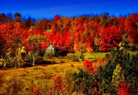 Fall Cottage Wallpaper Autumn Barn Mountains Amp Nature Background Wallpapers On
