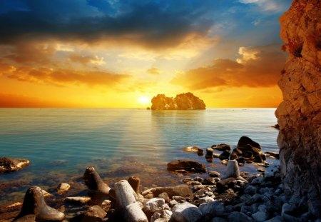cool ocean sunset sunsets