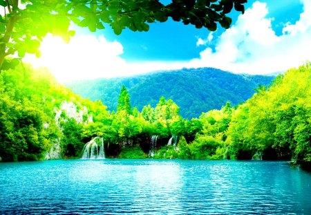 Water Falling Wallpaper Desktop Exotic Waterfalls Waterfalls Amp Nature Background