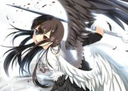 black white wings - & anime