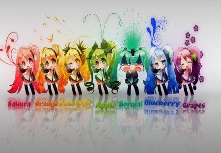 Nice Sweet Girl Wallpaper Rainbow Miku Other Amp Anime Background Wallpapers On