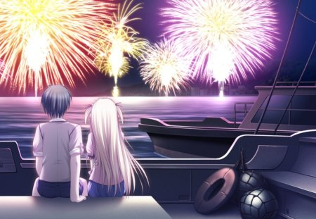 Nice Sweet Girl Wallpaper Fireworks Anime Manga World Wallpapers And Images