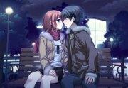 kiss - & anime background