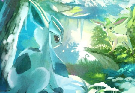 Cute Glaceon Wallpaper Pokemon Pokemon Amp Anime Background Wallpapers On Desktop