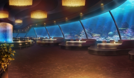 3d Sky Ceiling Wallpaper Aquarium Restaurant Other Amp Anime Background Wallpapers