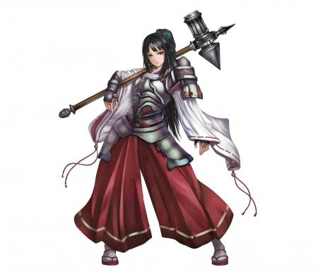 Anime Wallpaper Goddess Girl With Black And White Hair Warrior Other Amp Anime Background Wallpapers On Desktop