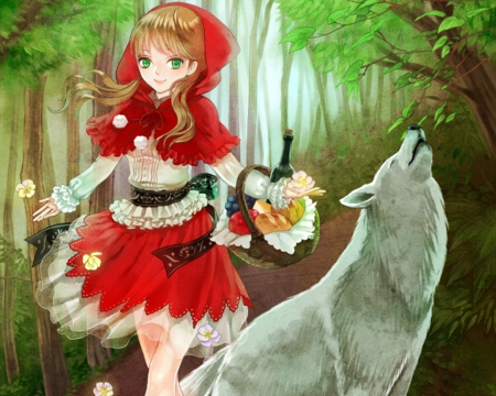 Cute Little Boy And Girl Wallpapers Red Riding Hood Other Amp Anime Background Wallpapers On