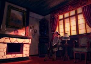 anime jakku dark pixiv background living creepy window zerochan fire place wall desktopnexus