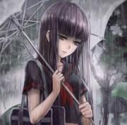 rainy day - & anime background