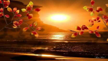 Free Fall Desktop Wallpaper Backgrounds Autumn Sunset Sunsets Amp Nature Background Wallpapers On