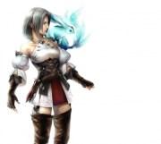 carbuncle & hyur - final fantasy