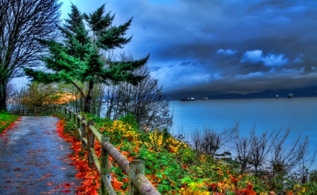 Fall Leaves Desktop Wallpaper Backgrounds Early Autumn Lakes Amp Nature Background Wallpapers On