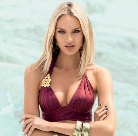 Candice Swanepoel Gorgeous Blonde Supermodel Swimsuit Girl Teen Hot Swimwear
