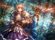 knight - & anime background
