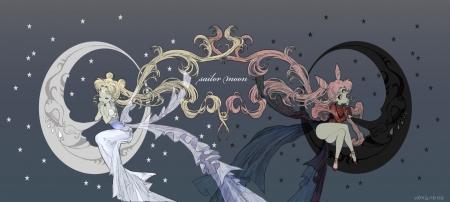 Cute Ribbons Wallpaper Sailor Moon Amp Black Lady Sailor Moon Amp Anime Background