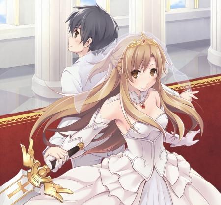 Nice Girl And Boy Wallpaper Kirito ♡ Asuna Other Amp Anime Background Wallpapers On