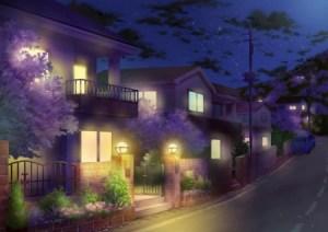 anime night background scenery building scene dark desktop nexus