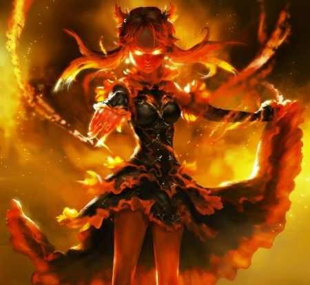 fire demon fantasy abstract