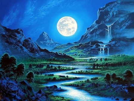 Ice Wolf 3d Wallpaper ★moonlight Kingdom★ Sky Amp Nature Background Wallpapers