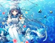 water tea - & anime background