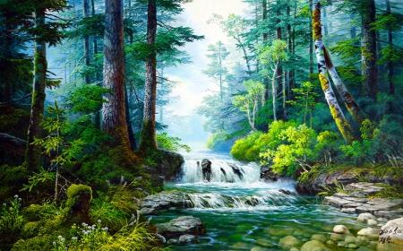 3d Mushroom Garden Wallpaper Forest Fantasy Forests Amp Nature Background Wallpapers On