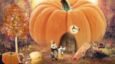 Free Fall Pumpkin Desktop Wallpaper Harvest Pumpkin House Rodents Amp Animals Background