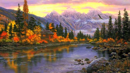 Frosty Fall Fields Wallpaper ★autumn Mountain★ Mountains Amp Nature Background