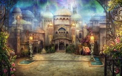 anime palace fantasy hd castle scenery background realistic building magic desktop light pretty nice cg scene wallpapers scenic splendid