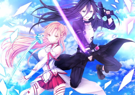 Cute Love Cartoon Couples Wallpapers Sao Ggo Other Amp Anime Background Wallpapers On Desktop